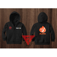 Jaket Sweater Hoodie Zipper Anak Free Fire Aura Esports -FIFTYCLOTHING