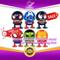 Marvel Avenger Pajangan Mobil Smile - Car Dashboard Spring Doll 0612