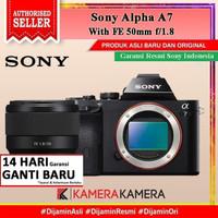 Sony Alpha a7 / Sony 7 Kit FE 50mm f/1.8 Kamera Mirorrless - RESMI