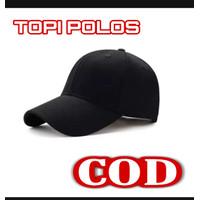 topi pria / topi baseball polos /topi hitam polos casual sporty