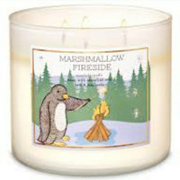 Bath & Body Works BBW MARSHMALLOW FIRESIDE 3-Wick Scented Candle 411 g
