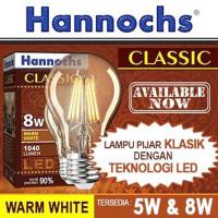 Lampu Led Filament/Retro Bulb 5W/ 8W Warm White GA-60 HANNOCHS Classic
