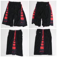 Celana Basket training Nike Elite Stripe Hitam Putih Grade Original - HITAM MERAH, M