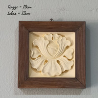 wall decor frame kayu gipsum gypsum hiasan dinding dekorasi home decor