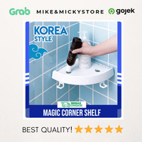 (JADIAJA) RAK SUDUT KAMAR MANDI KOREAN STYLE | One touch magic shelf