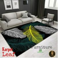karpet permadani, karpet lantai 160x 210, karpet leaf