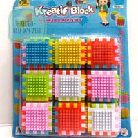 mainan edukasi dan sensori thorn cube - block berduri - KN
