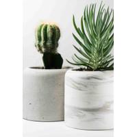 Pot Bunga / Pot Bunga Semen / Pot Kaktus / Pot Marble / AUBREY - NATURAL