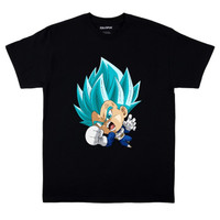 Kaos Baju Combed 30S Distro VEGETA CHiBi dragon polos custom indonesia