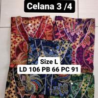 setelan piyama batik bagan size L cewek cowok / baju tidur batik