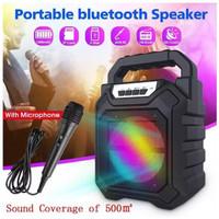 YD-668 Speaker bluetooth wireless with mic rainbow Rgb