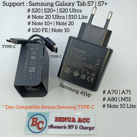 Charger Original Samsung 45W TYPE-C A70 | A71 | A80 | S20 | S20+