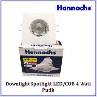 Downlight Spotlight LED / COB 4 Watt Putih/Kuning Kotak HANNOCHS AXIS