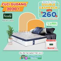 Serenity Hanya Kasur Spring Bed Impressa Pocket Latex 160x200
