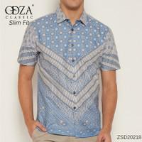 Baju Batik Kemeja Pria Dewasa Solo Hem Lengan Pendek Batik Pastel - M