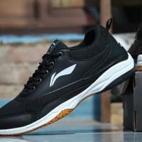 Sepatu badminton volly running lining new arrival D99 - Hitam, 39