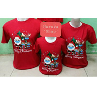 Baju Kaos Couple Family Natal / Santa Claus / Merry Christmas 1Anak ~0