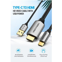 Deskripsi Vention CGT kabel Type C to HDMI Male Converter 4k 60hz With