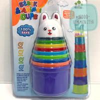 Mainan edukasi stacking cup - menyusun gelas - piles cup WS