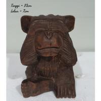 hewan kayu monyet pajangan dekorasi home decor