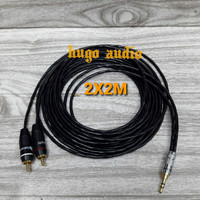 KABEL AUDIO CANARE KECIL JACK MINI STEREO 3.5MM S TO RCA R/L (2X2M)