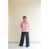 Lexy Shirt /Atasan Kemeja KatunTangan Panjang/Baju Kantor Kerja Wanita