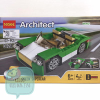 Lego architect 3 in 1 - green supercar - WNS