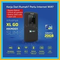 Modem HKM001 Mifi 4G Wifi Unlock BYPASS 3000mAh Free XL GO IZI 20GB
