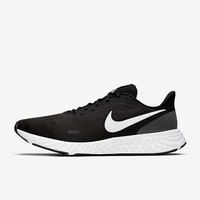 Sepatu Running Nike Revolution 5 Black White Original - 43