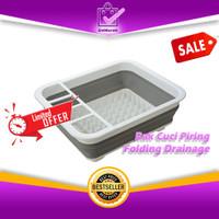 Rak Cuci Piring Mangkok Sendok Dapur - Folding Drainage Bowl Rack 0638