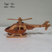 pesawat kayu helikopter mainan kayu pajangan dekor home decor homede