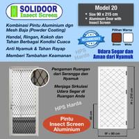 Pintu Aluminium Starmas Solidoor Model 20 Insect Screen (Anti Nyamuk)