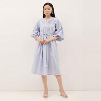 NONA Boho Dress Midi Soft Blue