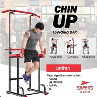 Pull up stand chinup pull Hanging up Bar Speeds Fitness Gym 042-25