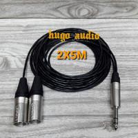 KABEL AUDIO CANARE KECIL JACK AKAI STEREO 6.5MM TO 2 XLR MALE (2X5M)