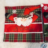 Sarung Bantal Natal Kotak 7242 - Santa