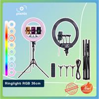 RingLight Rainbow RGB 14 INCH - 36CM   RingLight Rainbow for TikTok