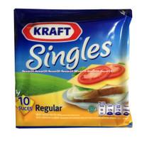 Kraft Singles Regular 10Slice Keju Lembaran Kraft Untuk Roti Sandwich