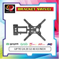 Bracket LED TV Swivel 4 Arah 24 Sampai 43 Inch