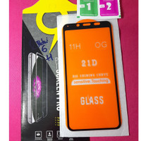 tempered glass redmi 6 full cover - Hitam