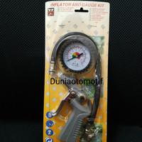 Inflator and Gauge Kit / Alat Isian Angin 3 In 1