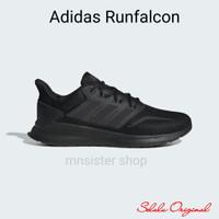 Sepatu Lari Running Adidas Runfalcon Full Black Original BNIB G28970