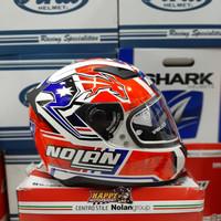 Helm Fullface Nolan N60.5 C. Stoner Metal White