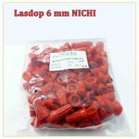 Lasdop/Las dop/Screw on wire 6 mm per pack isi 100pcs NICHI - MERAH