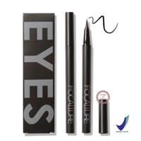 [BPOM] FOCALLURE Easy to Wear Long-Lasting Liquid Eyeliner Pen - Black
