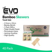 [GROSIR] Tusuk Sate NEW EVO 500 gr / 2.5mm x 22cm / 40 Pack