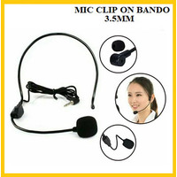Mic Clip On Bando Headset Microphone Bando Jack 3.5 mm Flexible Phone