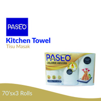Paseo Elegant Kitchen Towel Roll White Tip To Tip 70Sheets 3 Roll