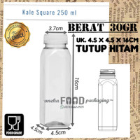 Botol Kale Square PET 250ml KOTAK+tutup