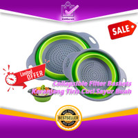 Keranjang Tiris Cuci Sayur Buah Collapsible Filter Baskets 0590
